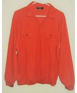 Botttany 500 Men's Half-Zip Long Sleeve Knit Shirt Orange XL - $9.89