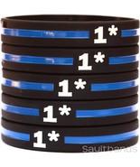 Set of 1* Wristbands - 1 Asterisk Bracelets - One Ass To Risk Thin Blue ... - $1.48+