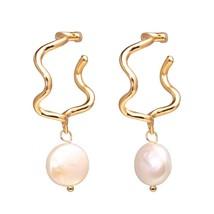 17KM Vintage Gold Drop Earrings For Women 2019 Brincos Geometric Drop Ea... - $16.97