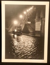 WILLY RONIS Photograph Rue Muller Paris Night 9x12 Lithograph Portfolio ... - $23.19