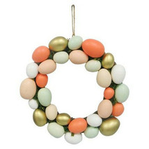 """Threshold 13"""" Decorative Pastel Gold Easter Egg Wreath Decor New with Tags image 1"""