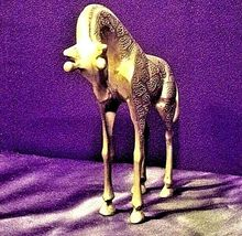 Vintage Metal African Gazelle resting on the plain  AA19-1398 image 3