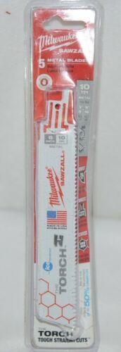 Primary image for Milwaukee 48004712 Sawzall Blade 5 Pack Metal Blades New In Package