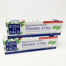 2 Kiss My Face Enamel Xtra Cool Mint Gel Toothpaste Fluoride each 4.5oz ... - $14.22