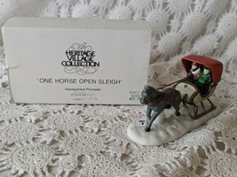 Department 56 One Horse Open Sleigh Porcelain Vintage  - $14.54