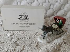Department 56 One Horse Open Sleigh Porcelain Vintage  - $14.54
