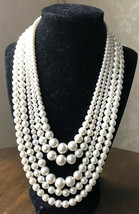 Vintage Sarah Coventry Faux Pearl Convertible Choker Clasp Wear 2,3, 5 Jewelry  - $64.35