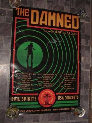 Poster The Damned 2018 Tour Poster Radkey The Darts Autographedy Monty Oxymoron