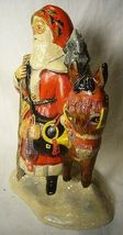 Vaillancourt Folk Art Father Christmas on a donkey  signed. by Judi! Last one! image 3