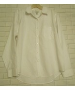 L.L. Bean XL Pet White Wrinkle Free Cotton Long Sleeve Career Blouse      - $18.47