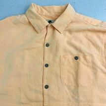 Joe Marlin Button Up Shirt Mens Medium Orange Short Sleeve Hawaiian - $18.49