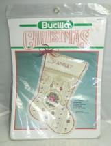 "Vintage Bucilla Christmas Victorian Rose Cross-Stitch Stocking 18"" 82733 - $23.76"