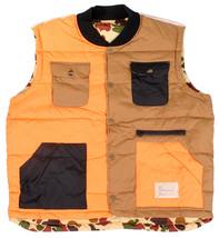 Hawke & Dumar Arancione Ghiacciolo Duck Camouflage Reversibile Nylon Piuma D'Oca