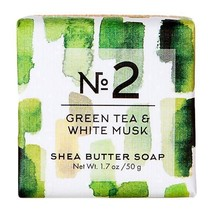 Via Mercato No. 2 - Green Tea & White Musk Mini Shea Butter Soap - $2.99