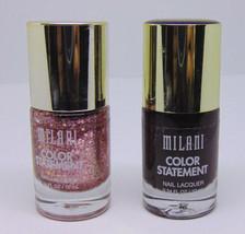 Lot Of 2 Milani Color Statement Nail Lacquer No.45 & 51 0.34 fl.oz/10ml - $8.42