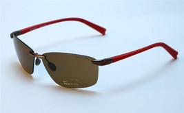 Nike Emergent EV0743-286 Rimless Sunglasses - Walnut/Hyper Red/Brown - $57.95