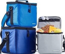 3 Thermal Lunch Bags Triple Foil Food Hot Cold Meal Prep Premium Reusabl... - $35.21