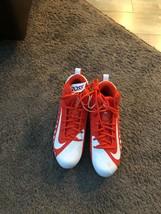 Nike Alpha Menace Pro Mid Football Cleats Size 11 White Orange 871451-811 - $38.61