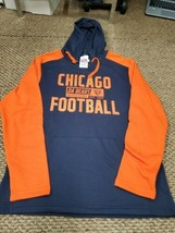 NWT NFL Team Apparel Chicago Bears Blue Orange Hoodie Sweatshirt Medium - $24.74