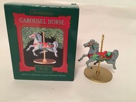 Hallmark Christmas Carousel Horse Holly 2nd In Series Of 4 Carousel Hors... - $4.50
