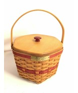 Longaberger Christmas Collection Snowflake Basket 1997 Holly Liner Prote... - $59.39