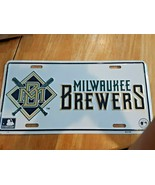 Vintage Milwaukee Brewers Metal Car/Truck License Plate NEW - $14.84