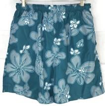 Tommy Hilfiger Hawaiian Floral Swim Trunks Board Shorts Green Mesh Mens ... - $26.60