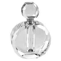 Hand Crafted Crystal Round Perfume Bottle - $21.16