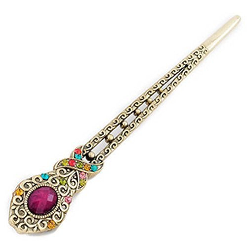 Rhinestone Alloy Classical Palace Hair Accessories Hairpin Headdress