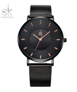 SK® Women Watches Wristwatch Ultra Thin Quartz Watch Black Silver Gold C... - $21.25+