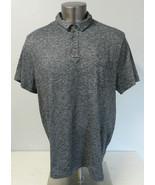 Mens Treasure & Bond Polo Shirt Heather Gray Short Sleeve Size XXL Cotto... - $24.74