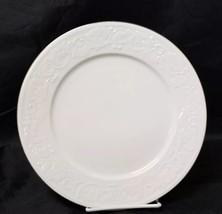 """Retroneu Calais Dinner Plates Set of 2, 10.5"""" White w Gold Trim 4173 image 2"""
