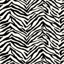Black & White Zebra Print Wallpaper Chesapeake Wallcoverings BBC95503 - $40.10