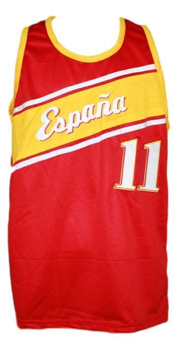 Ricky rubio team spain espana basketball jersey red   1