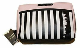 Victoria Secret Striped Cosmetic Make Up Bag Beauty Travel New York Exclusive - $45.86