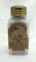Antique Lazell's Violet Sachet Bottle 5 1/2 x 2 1/4 Beautiful Woman on L... - $57.92