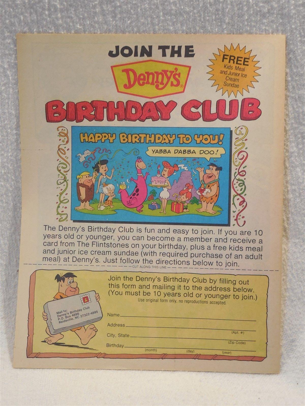 Flintstones 1990 Denny's Unused Fun Book - Comics, Puzzles, Games - Volume 15