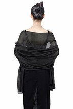 QBSM Womens Sparkly Shawls and Wraps, Wedding Party Shawl Scarf for Even... - $31.12