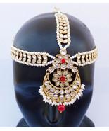 ETHNIC PEARL MATHA PATTI CZ HEAD CHAIN HIJAB BRIDAL INDIAN JEWELRY MANNG... - $28.03