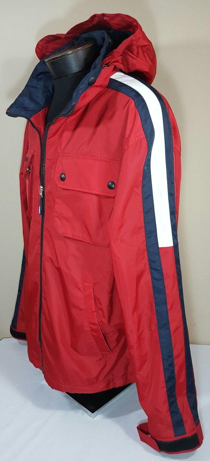 VTG Tommy Hilfiger Jacket Flag Windbreaker Colorblock 90's Spell Out XL Coat image 2