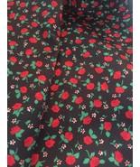 Vintage Fabirc Roses Galore Floral Print Hampton Print Works Tennessee 9... - $17.81