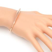 """UE- Unique & Contemporary Rose Tone """"Slinky"""" Coil Designer Bangle Bracelet - $15.99"""