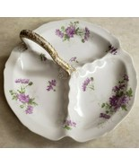 C. Ahrenfeldt Limoges France Depose 3 Sectioned Serving Dish With Handle  - $70.13