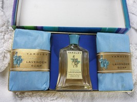 Vintage Yardley English Lavender MIni Soap Gift Set *Empty Perfume Bottle* - $19.99