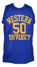 Neon Boudeaux Western University Basketball Jersey Blue Chips Movie Any Size image 4