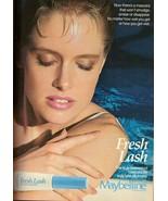 1987 Maybelline Cosmetics Makeup Magazine Print Ad Vintage Advertisement... - $8.71