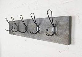 Vintage Rustic Coat Rack –Authentic Barn Wood Hanger Rack for Towels, Cl... - $74.06