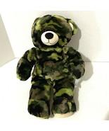 "Build a Bear Camo Teddy Plush 16"" Green Camouflage - $14.00"