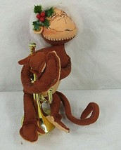 Vintage Annalee Mobilitee Dolls Monkey Painted Face Musical Instrument 1998 - $29.69