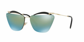 New Miu Miu Noir MU54TS 1AB/4J2 Black/Emerald Iridium Gradient Sunglasses - $185.77